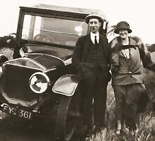 Bonnie And Clyde 1923 by Robert Phillips