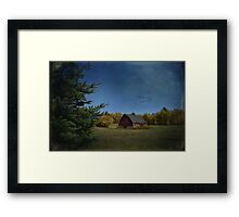 a brush with fall Framed Print