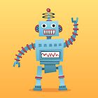 Cute and fun retro robot by Mhea