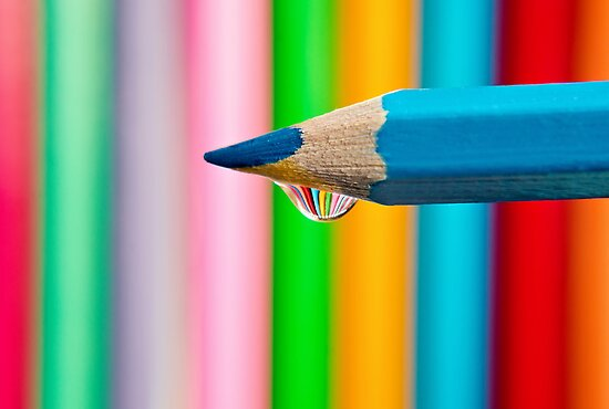 pencil droplet by Michelle McMahon