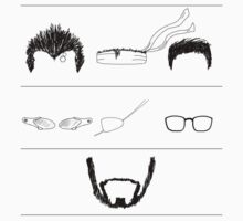 The Beard Remains the Same (WITHOUT TEXT) T-Shirt