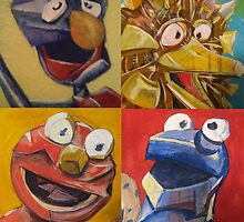 sesame street abstract by creativecurran