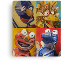 sesame street abstract Canvas Print