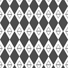 Argyle - Black and White by Synorama