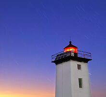 Wood End Lighthouse Cape Cod star trails by Matt Suess