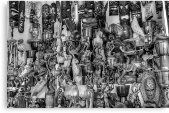 Stall at the Straw Market in Nassau, The Bahamas by 242Digital