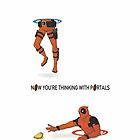 Portal - Deadpool Thinking with Portals by spyderjava