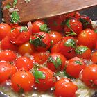 Cooking up the last of the summer tomatoes by Choux