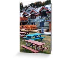 Coloured wood Greeting Card