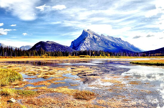 Vermillion Lake Image One- Alberta, Canada by Laurast
