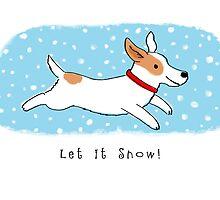 Snow Dog Holiday by Jenn Inashvili