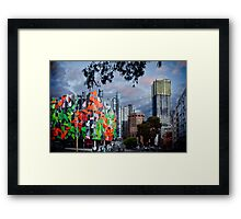 Pixel Building, worlds 2nd most ugliest building. Framed Print