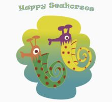 Happy Seahorses by Princess Boo-Boo