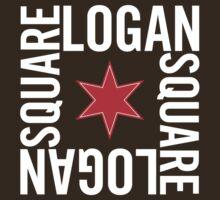 Logan Square Neighborhood Tee (Dark) by Chicago Tee
