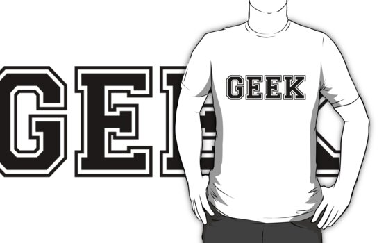 White College GEEK Tee by Limited Apparel