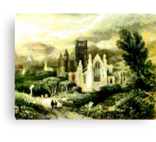 Melrose Abbey, Scotland founded in 1136 Canvas Print