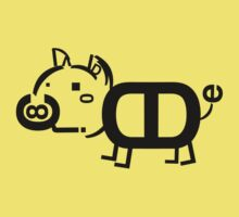Helvetica Zoo 'Pig'  by davegow