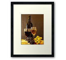 Wines and Grapes Framed Print