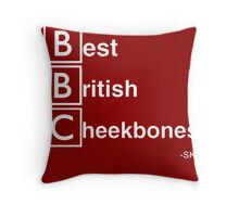 Best British Cheekbones... Throw Pillow