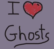 i love halloween ghosts by Tia Knight