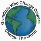 "New Grandpa ""Grandpas Who Change Diapers Change The World"" by FamilyT-Shirts"