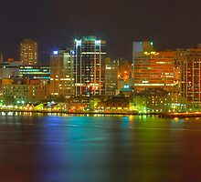 HDR Halifax Skyline Night Lights by Jamie Roach