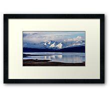 Lake Tekapo Mountains Framed Print