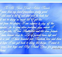 THANK YOU SO MUCH FOR YOUR PRAYERS AND COMMENTS by Sherri     Nicholas