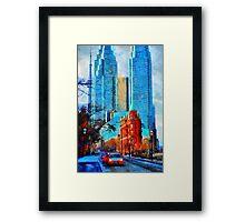 Gooderham Building Toronto Dowtown Painting Framed Print
