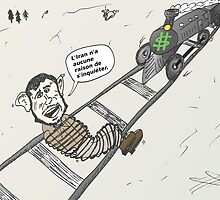 Président Mahmoud Ahmedinanad en caricature by Binary-Options