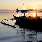boat at sunrise by lensbaby