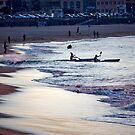 Kayakers, Bondi, New South Wales, Australia by Sharpeyeimages