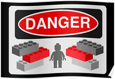Danger Bricks & Minifig by Customize My Minifig  by ChilleeW