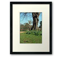 Magdalen College Tower Framed Print