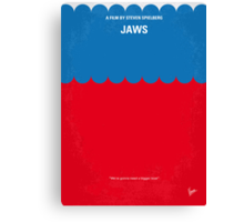 No046 My Jaws minimal movie poster Canvas Print