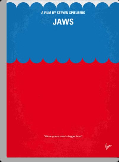 No046 My Jaws minimal movie poster by Chungkong