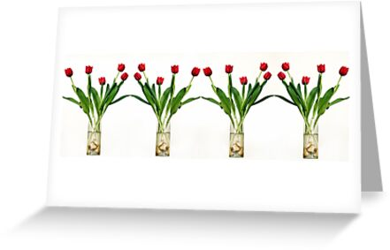 4 vases of tulips  by PhotoStock-Isra