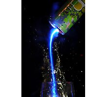 Energy drink poured into a glass with lightning affect Photographic Print