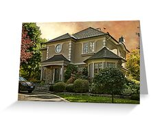 Stucco House in Autumn Greeting Card