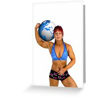 Pin up poster of Female Atlas Greeting Card