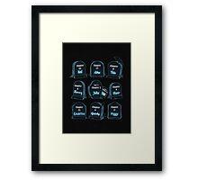 Spoiler Graveyard Framed Print
