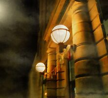 Foggy Night on Main Street by RC deWinter