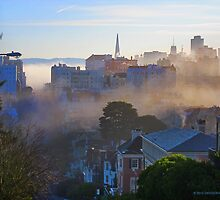 Pacific Heights and the morning Fog by David Denny