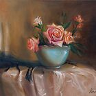 Still life with roses by vaskoni