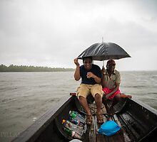 rain , lake, boat, drinks by Sajeev Chandrasekhara Pillai
