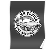 Back to the Future Mr Fusion Time Machines Poster
