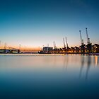 Sunrise over Royal Victoria Dock by JzaPhotography