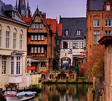 Evening on a Belgian Canal by Susan Leonard