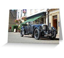 1927 Bentley 6.5 litre Open Tourer Greeting Card