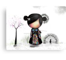 patchwork kimono Metal Print